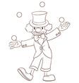 A plain sketch of a clown vector image vector image