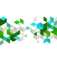 abstract background with color cubes and grid vector image vector image