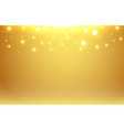 abstract gold blurred background with bokeh and vector image vector image