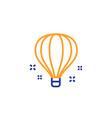 air balloon line icon sky trip sign vector image