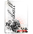 american football poster background vector image