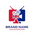 american television logo design vector image vector image