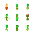 assembly flat shading style icon halloween zombie vector image vector image