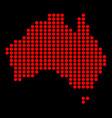 australia in dots vector image