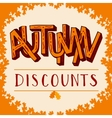 Autumn discounts vector image vector image