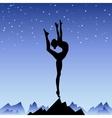 Beautiful flexible girl gymnast staying on one leg vector image