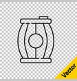 black line gun powder barrel icon isolated on vector image vector image