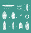 boat icons set vector image