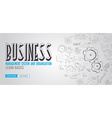 Business Management Concept with Doodle design vector image vector image
