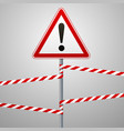 caution - danger warning sign safety a red vector image vector image