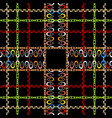 checkered ornamental colorful seamless pattern vector image vector image