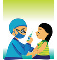 child care doctor vector image vector image