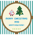 Christmas greeting card21 vector image
