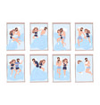 collection of young man and woman sleeping on bed vector image vector image