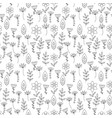 Coloring pattern with little flowers vector image
