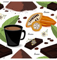 cute and stylish cocoa seamless pattern cocoa vector image
