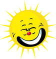 cute sun smiling vector image