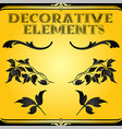 decorative floral design elements and ornaments vector image vector image