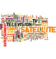 entertainment ala satellite tv text background vector image vector image