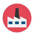 factory flat icon vector image vector image