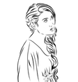 fashion sketch girl in dress vector image