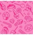 Fast food sweets menu seamless pattern vector image