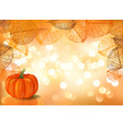 festive background with pumpkin vector image