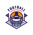 football championship logo template american vector image vector image