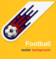 football flying soccer ball orange background vect vector image