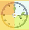 four seasons clock vector image vector image