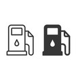 fuel pump icon on white background vector image