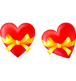 Gift in Valentines Day vector image vector image