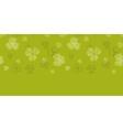 green clover textile texture horizontal border vector image vector image