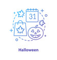 halloween concept icon vector image vector image