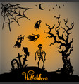 halloween scary background vector image