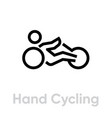 hand cycling activity icon vector image vector image