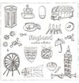 Hand drawn doodle England symbols set vector image vector image