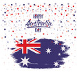 happy australia day flag poster with colorful vector image vector image