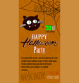 happy halloween invitation card template with vector image