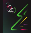 happy new 2020 year concept vector image vector image
