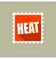 Heat flat stamp with long shadow vector image vector image