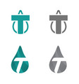 initial t letter droplet or initial t letter petro vector image vector image