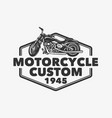 logo design motor cycle custom 1945 vector image