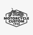 logo design motor cycle custom 1945 with vector image