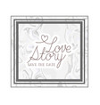 love story label with marble texture vector image