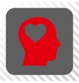 Lover Head Rounded Square Button vector image