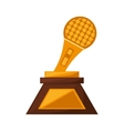 Microphone music trophy awards gold