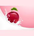 milk splash and plum vector image vector image