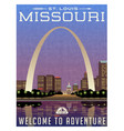 missouri travel poster vector image vector image