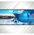 Modern poligonal background for brochure and vector image